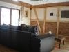 Das Wohnzimmer mit Fachwerkwand